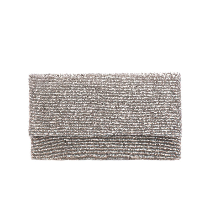 Silver Solid Clutch - clutch-it-india