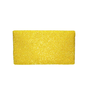 Matt Yellow Solid Clutch - clutch-it-india