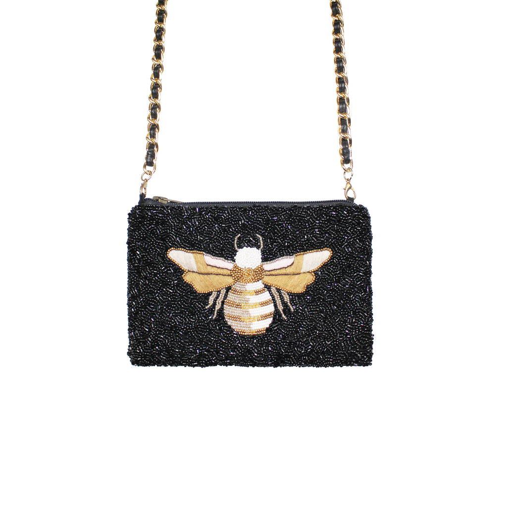 Black Bee Crossbody Bag