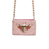 Pink Bee Crossbody Bag