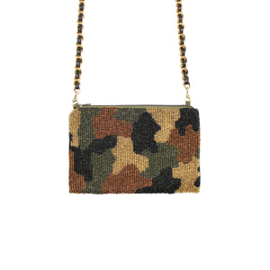 Silver Camouflage Crossbody Bag