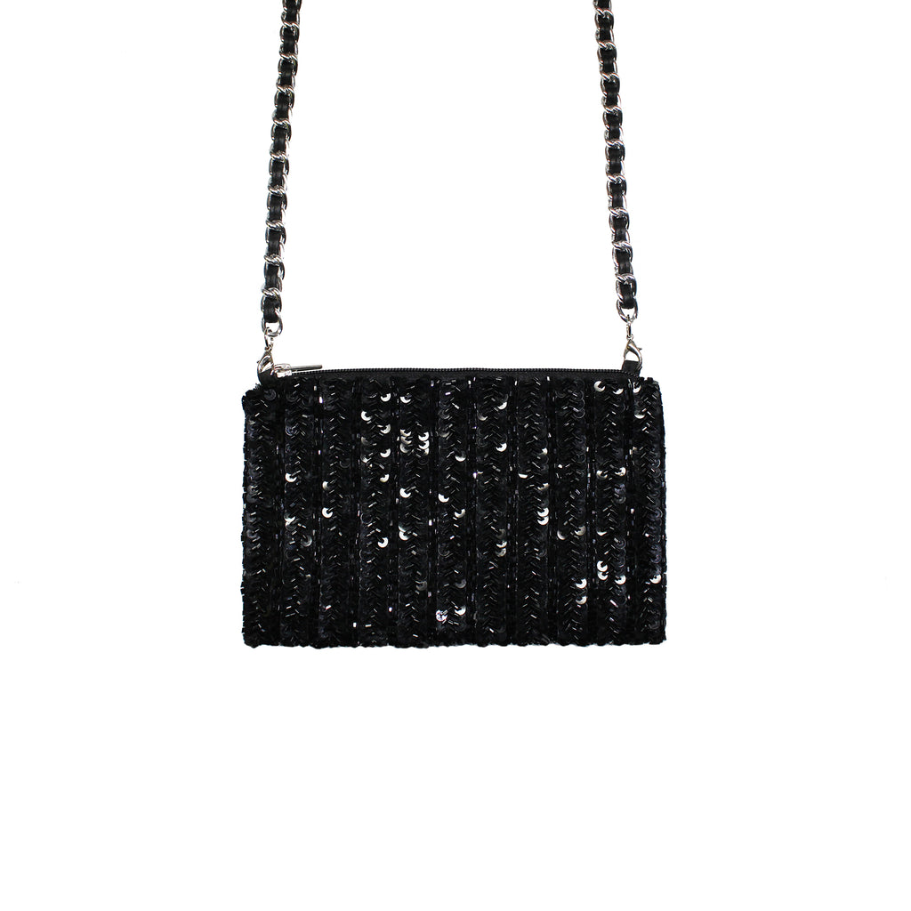 Black Glam Crossbody Bag