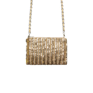 Antique Gold Glam Crossbody Bag