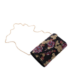 Black and Gold Amoss Clutch - clutch-it-india