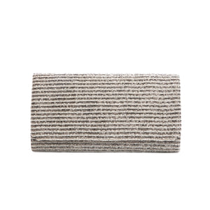 White and Silver Three Layered Ocean Clutch - clutch-it-india