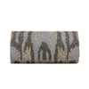 Ivory and Silver Claw Clutch - clutch-it-india