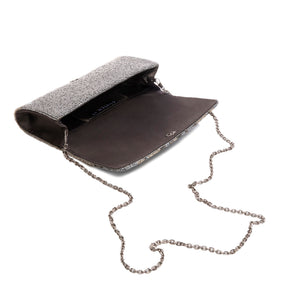 Silver and Pewter Claw Clutch - clutch-it-india