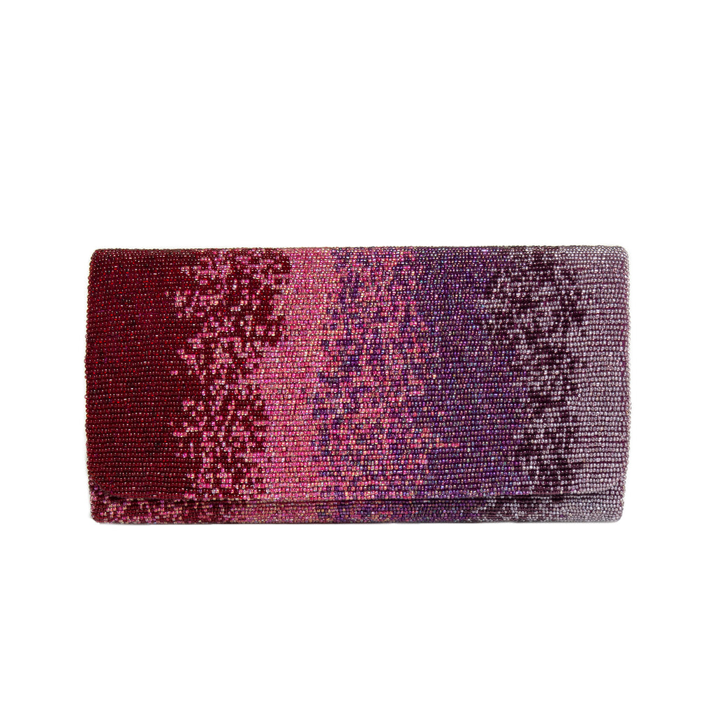 Wine and Purple Motley Clutch - clutch-it-india