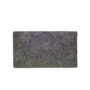 Antique Moss Loop Clutch - clutch-it-india
