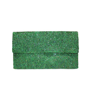 Emerald Loop Clutch - clutch-it-india