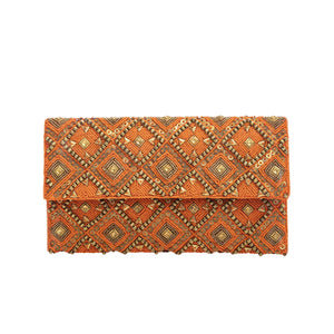 Turquoise Eklat Clutch - clutch-it-india