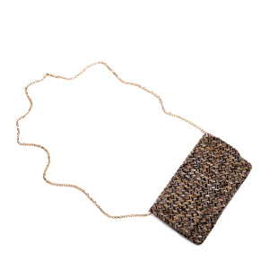 Black and Antique Gold Elle Clutch - clutch-it-india