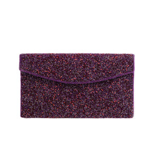 Purple and Wine Mystical Clutch - clutch-it-india