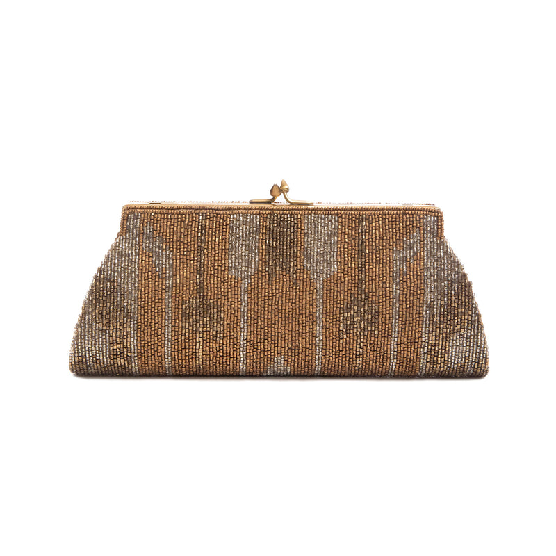 Gold and Pewter Spinel Clutch - clutch-it-india