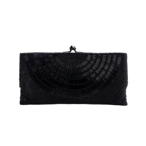 Black Oressa Clutch - clutch-it-india