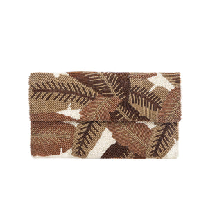 Green Elm Leaf Clutch - clutch-it-india