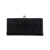 Pewter Diamond Striped Frame Clutch - clutch-it-india