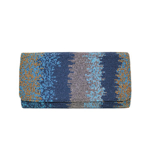 Silver Multi Motley Clutch - clutch-it-india