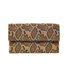 Grey Python Print Clutch - clutch-it-india