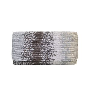 Blue and Gold Motley Clutch - clutch-it-india