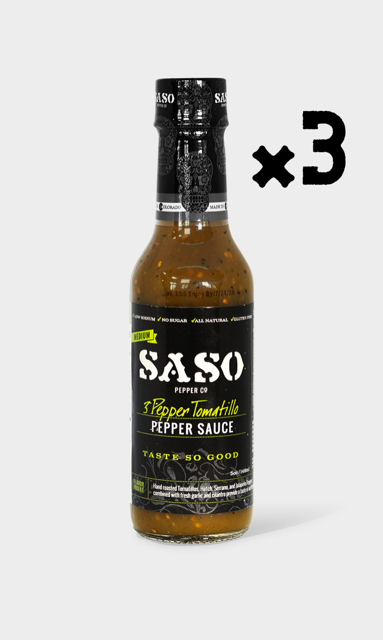 3 Pepper Tomatillo (3 Pack)