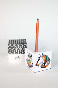 A4 hard cover notebook illustrated by Dana Law-Yone