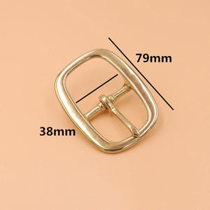 Tri-Glide Oval Buckle, Middle Center Bar with Single Pin, Brass
