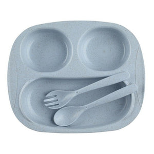 Children's Cutlery & Plate Set, Multi-Color