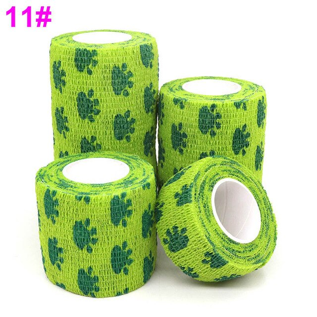 1 pcs Colorful Printed Medical Self Adhesive Elastic Bandage, 4.5m, 1.75