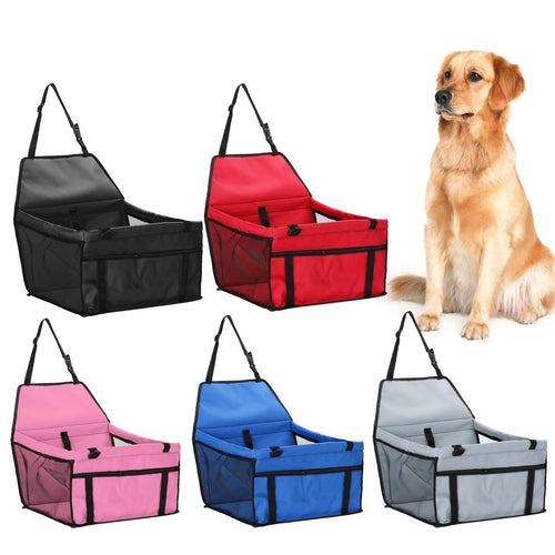 Pet Carrier Car Seat with Pad, Waterproof, 25x30x45cm/10x12x18
