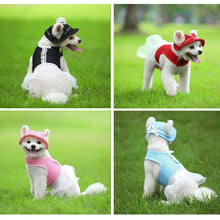 Load image into Gallery viewer, Pet Sun Visor Caps With Ear Holes & Matching Dress, Spandex, Various Color & Size Sets