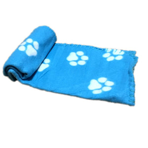 "Lovely Pet Paw Print Fleece Throw Blanket, Soft & Warm, Size: approx 24""x29"", Various Colors, 1pc"