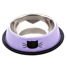 Load image into Gallery viewer, Pet Food & Water Bowl, Stainless Steel, Anti-Skid, Various Colors, 2pc or 3pcs,