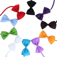 Load image into Gallery viewer, Adjustable Neck Strap Dog Bow Tie Pets, Breakaway, 100% Cotton, Various Colors, 1pc or 5pcs or 10pcs/Lot