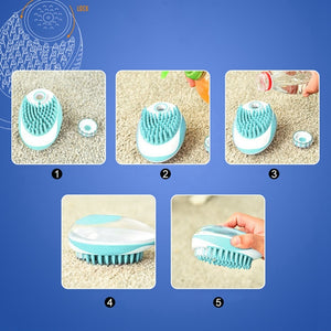New 2 In 1 Multi-function Shampoo Brush, 1pc