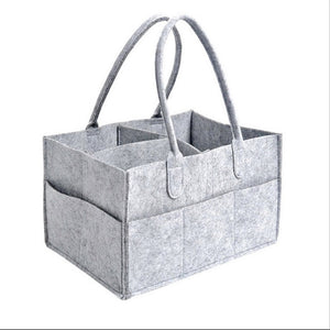 Portable Caddy Organizer Holder Bag, Multi-Purpose, Grey with Leather Handles, Polyester, Light Grey & Khaki, 2 Sizes