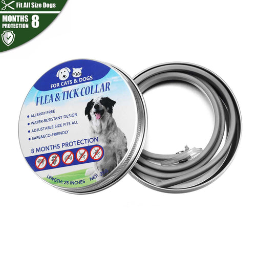 Pet Anti Flea/Anti Mosquito Insect Collar, Adjustable, 8 Months Protection, 1pc