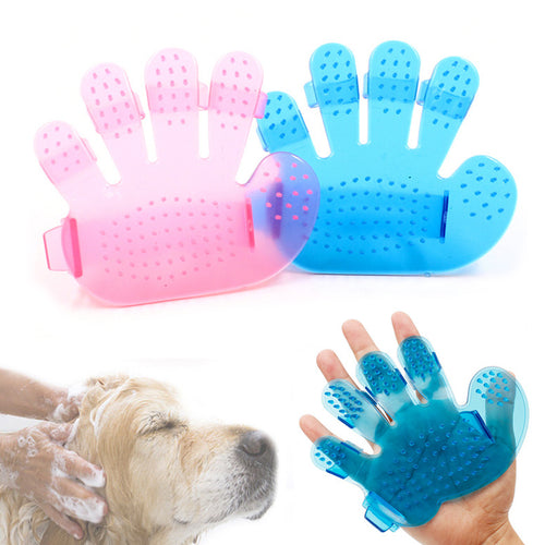 Bath Grooming Brush Glove, Adjustable, Pink or Blue, 1pc