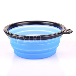 Silicone Dog Food/Water Bowl, One Size, Various Colors