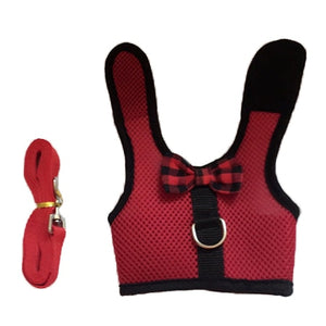 Small Animals Vest Harness & Leash Set, Nylon, 3 Colors, S/M/L