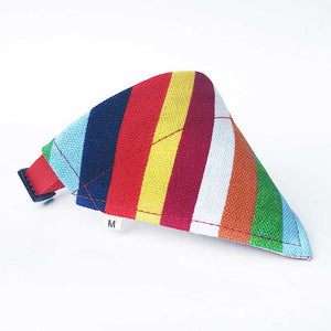Pet Triangular Bandanna with Breakaway Collar, Various Patterns & Colors, Small, 1pc