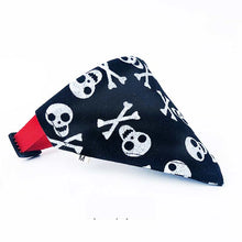 Load image into Gallery viewer, Pet Triangular Bandanna with Breakaway Collar, Various Patterns & Colors, Small, 1pc