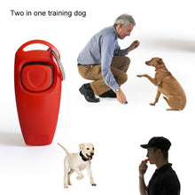 Load image into Gallery viewer, Dog Training Clicker & Whistle with Key Ring, Plastic, Variety of Colors, 1pc