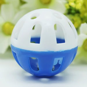 Hollow Plastic Interactive Ball with Tinkle Bell, Random colors, 3 cm, 1pc