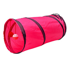 "Load image into Gallery viewer, Pet Play Toys, 2 Way, Collapsible Tunnel for Small Animals, Taffeta, Length 50cm/19.65"" x Diameter 25cm/9.85"""