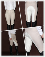 Load image into Gallery viewer, Women's Horse Riding Pants, Soft Breathable Equestrian Style, Beige/Coffee Colors, Various sizes