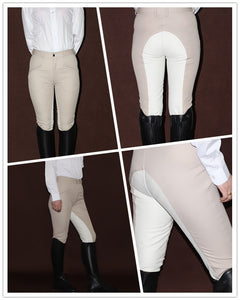 Women's Horse Riding Pants, Soft Breathable Equestrian Style, Beige/Coffee Colors, Various sizes