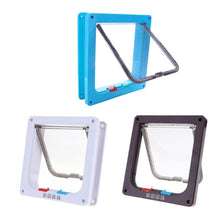 Load image into Gallery viewer, 4 Way Lockable Flap Pet Door, ABS Plastic, 3 Colors, S/M/L