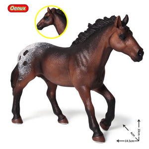 Original Forest Wild Horse Model, Action Figurine, 3 years old, Scale: 1/48