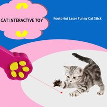 Load image into Gallery viewer, Paw Shaped Cat Laser Pointer Toy, Interactive, Automatic LED Light Pen, Battery, 5 Colors, 1pc